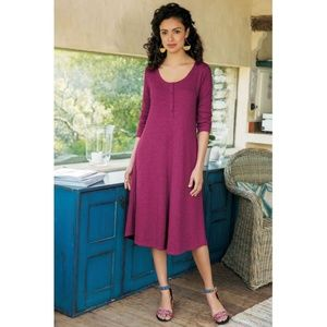 Soft Surroundings Riley Dress Cotton Longsleeve